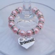 Bridesmaid Wine Glass Charm - Full Sparkle Style